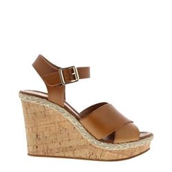 Carl Scarpa Glenys Tan Wedge Sandals