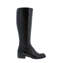 Carl Scarpa Kate Black Croc Leather Boots
