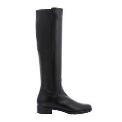 Carl Scarpa Lara Black Leather Knee-High Boots
