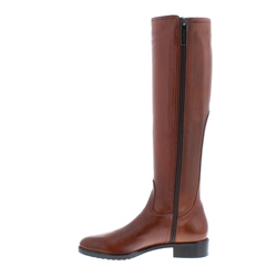 Lara Tan Leather Knee-High Boots