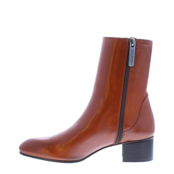 Minetta Tan Leather Ankle Boots