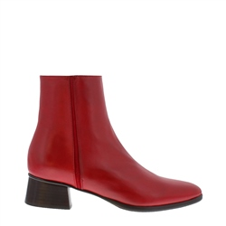 Carl Scarpa Megan Red Leather Ankle Boots
