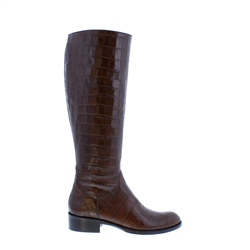 Carl Scarpa Kate Brown Croc Leather Boots