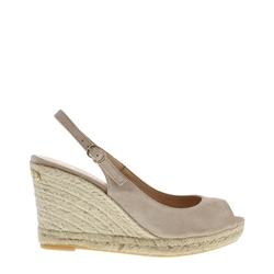 Carl Scarpa Cadenza Beige Wedge Sandals