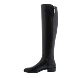 Emma Black Leather Knee-High Boots