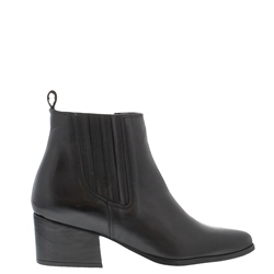 Carl Scarpa Pollyanna Black Leather Ankle Boots