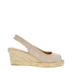 Carl Scarpa Ozetta Gold Wedge Sandals