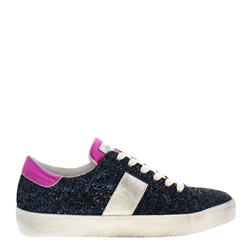 Carl Scarpa Primavera Navy Leather Trainers