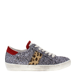 Carl Scarpa Primavera Glitter Leather Trainers