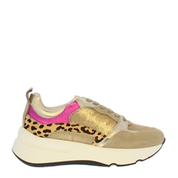 Carl Scarpa Pepita Gold Trainers
