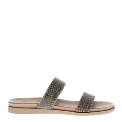 Carl Scarpa Ebony Diamante Slider Sandals