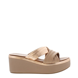 Carl Scarpa Eden Taupe Wedge Sandals