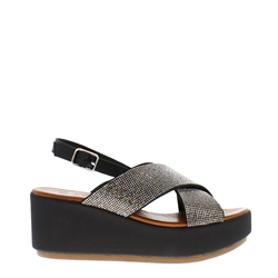 Carl Scarpa Escalia Black Diamnate Sandals