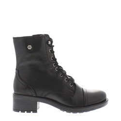 Carl Scarpa Paige Black Leather Ankle Boots