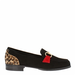 Carl Scarpa Sabana Black Suede Loafers