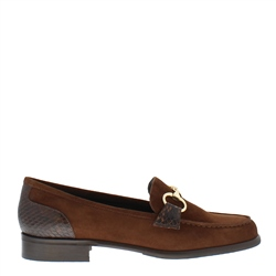 Carl Scarpa Sabana Brown Suede Loafers