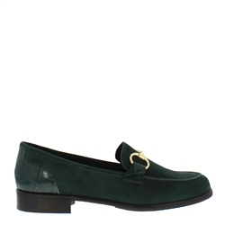 Carl Scarpa Sabana Green Suede Loafers