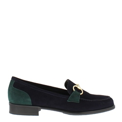 Carl Scarpa Sabana Navy Suede Loafers