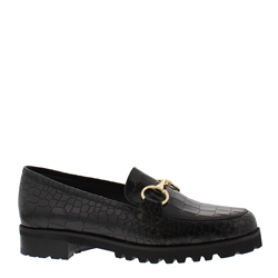 Scarlett Black Croc Loafers