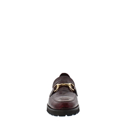 Scarlett Burgundy Croc Loafers