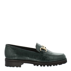 Carl Scarpa Scarlett Green Croc Loafers