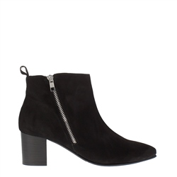 Carl Scarpa Cambria Black Suede Ankle Boots