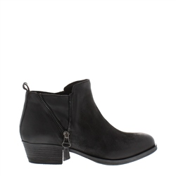 Carl Scarpa Aralia Black Leather Ankle Boots