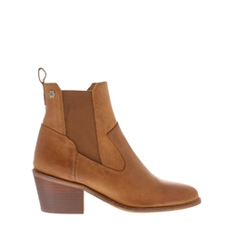 Carl Scarpa Perlette Tan Leather Ankle Boots