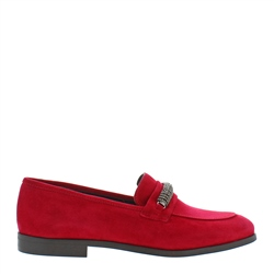 Carl Scarpa Tallula Red Suede Loafers