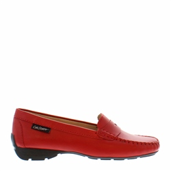 Carl Scarpa Alicia Red Leather Loafers