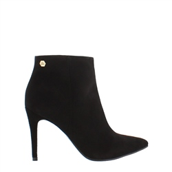 Edmonda Black High Heel Ankle Boot