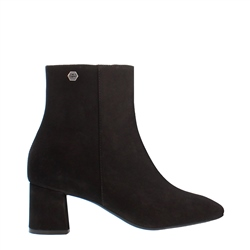 Carl Scarpa Elaine Black Suede Ankle Boot