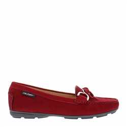 Carl Scarpa Harper Red Suede Loafer