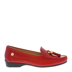 Carl Scarpa Ines Red Leather Loafers