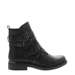 Ardella Black Ankle Boots