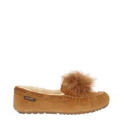 Carl Scarpa Bliss Chestnut Moccasin Slippers