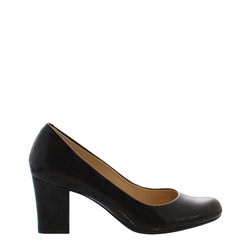 Carl Scarpa Yvonne Black Patent Court Shoes