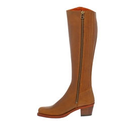 Viola Tan Leather Boots