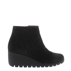 Carl Scarpa Halma Black Suede Wedge Ankle Boots
