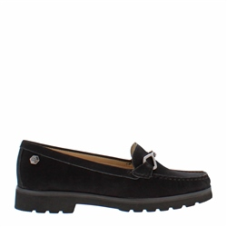 Carl Scarpa Honora Black Suede Loafers