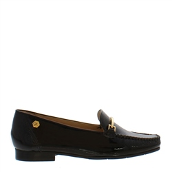 Carl Scarpa Idris Black Patent Loafers