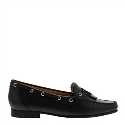 Carl Scarpa Irma Black Leather Loafers