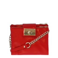 Carl Scarpa Fabiola Red Leather Crossbody Bag