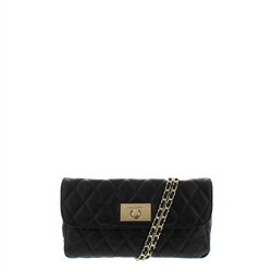 Carl Scarpa Felicia Black Leather Quilted Handbag