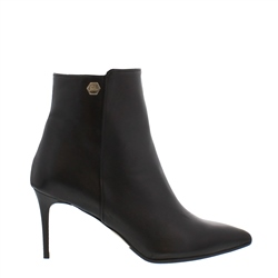 Carl Scarpa Marilisa Black Leather High Heel Ankle Boots