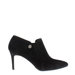 Carl Scarpa Marldonna Black Suede High Heel