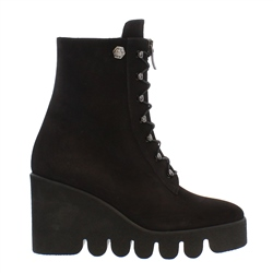Carl Scarpa Marquesa Black Suede Ankle Boots