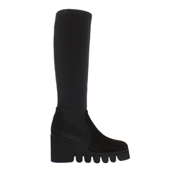 Carl Scarpa Massima Black Wave Sole Boots