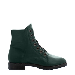 Carl Scarpa Arizona Green Leather Ankle Boots