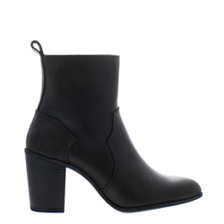 Carl Scarpa Alinda Black Leather Ankle Boots